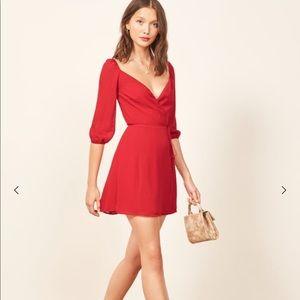 Reformation Eveleigh Mini Wrap Dress NWT Size XL